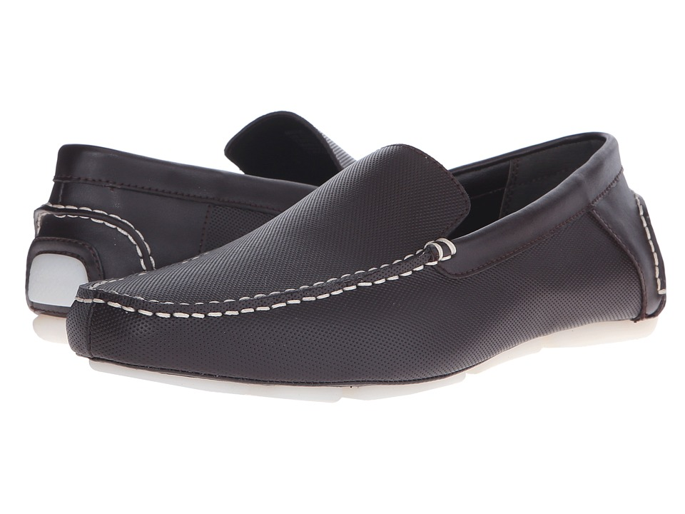 Calvin Klein - Miguel (Dark Brown Diamond Perf) Men's Shoes