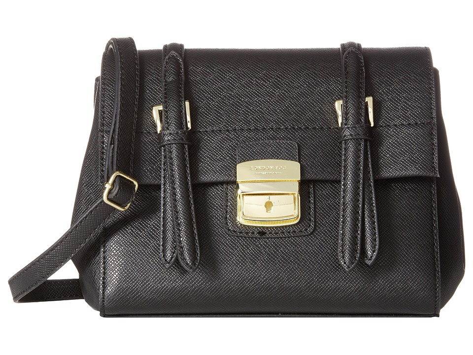London Fog - Layla Small Flap (Black) Handbags