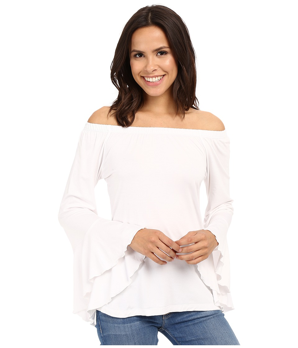 Union of Angels - Veronica Top (White) Women's Clothing