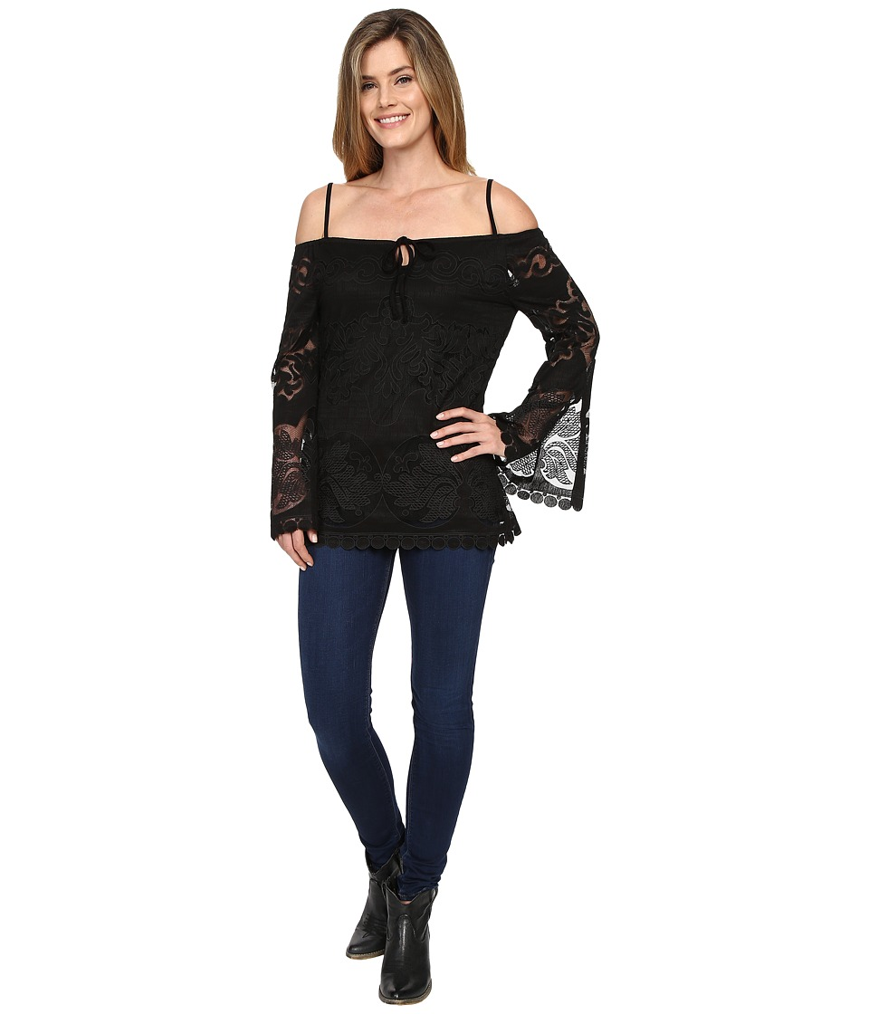 Union of Angels - Rose Tunic (Black) Women's Blouse