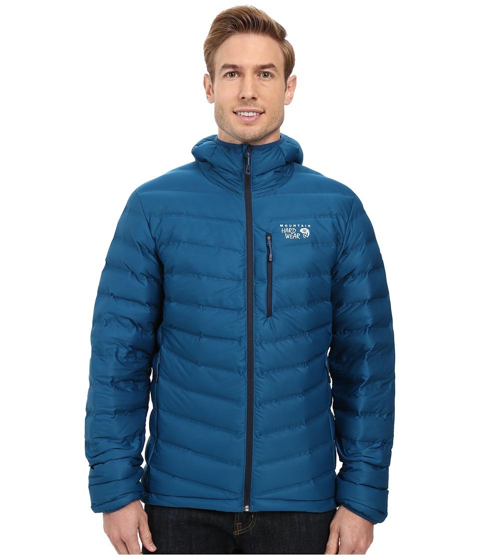 Mountain Hardwear - StretchDown Hooded Jacket (Phoenix Blue) Men's Coat