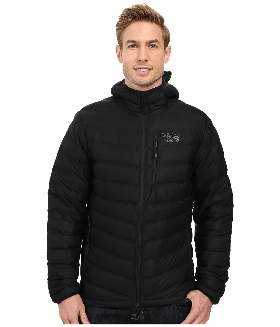 Mountain Hardwear - StretchDown Hooded Jacket (Black) Men's Coat