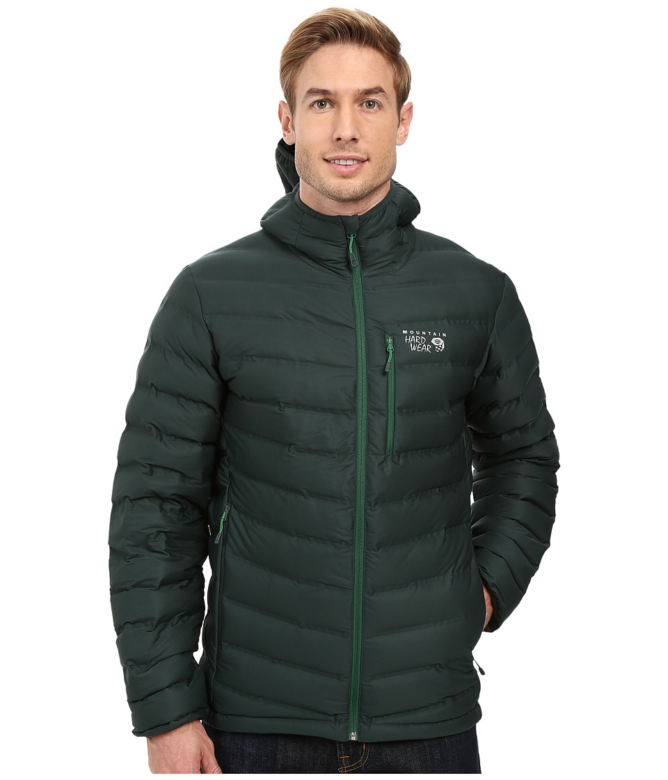 Mountain Hardwear - StretchDown Hooded Jacket (Dark Forest) Men's Coat