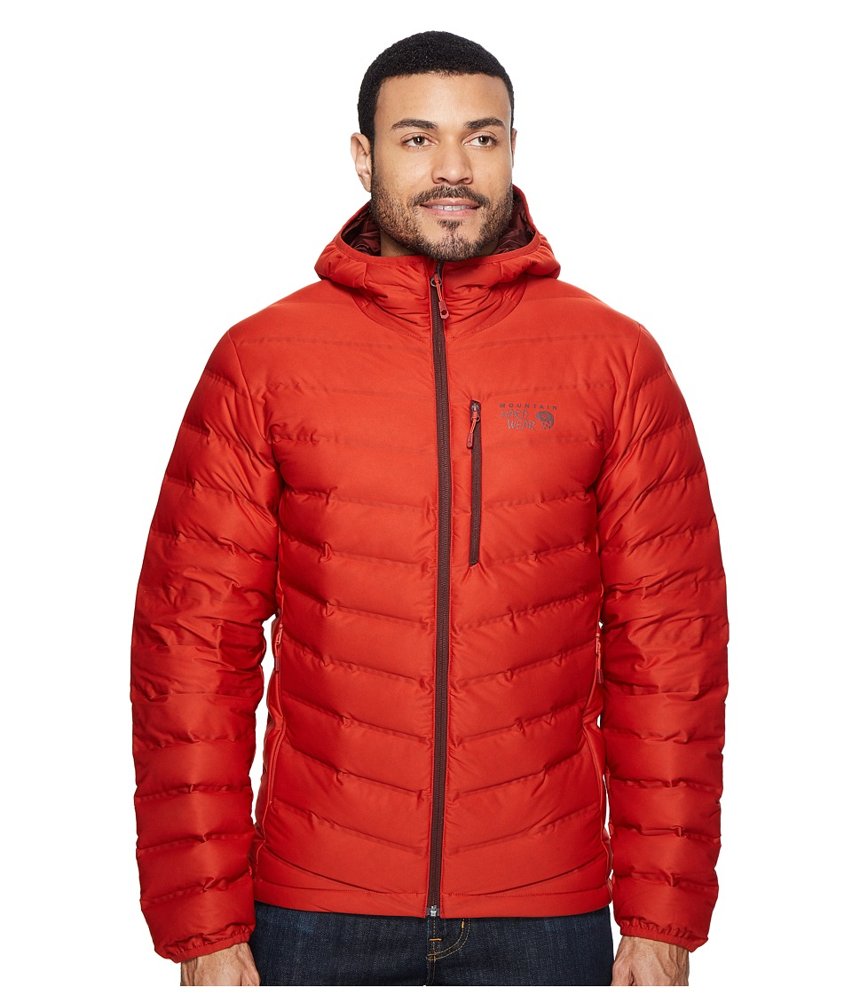 Mountain Hardwear - StretchDown Hooded Jacket (Dark Fire) Men's Coat
