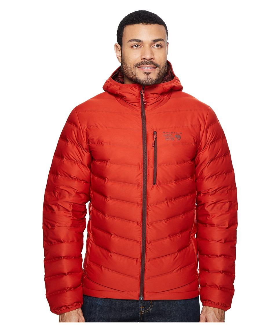 Mountain Hardwear - StretchDown Hooded Jacket (Dark Fire) Men's Coat