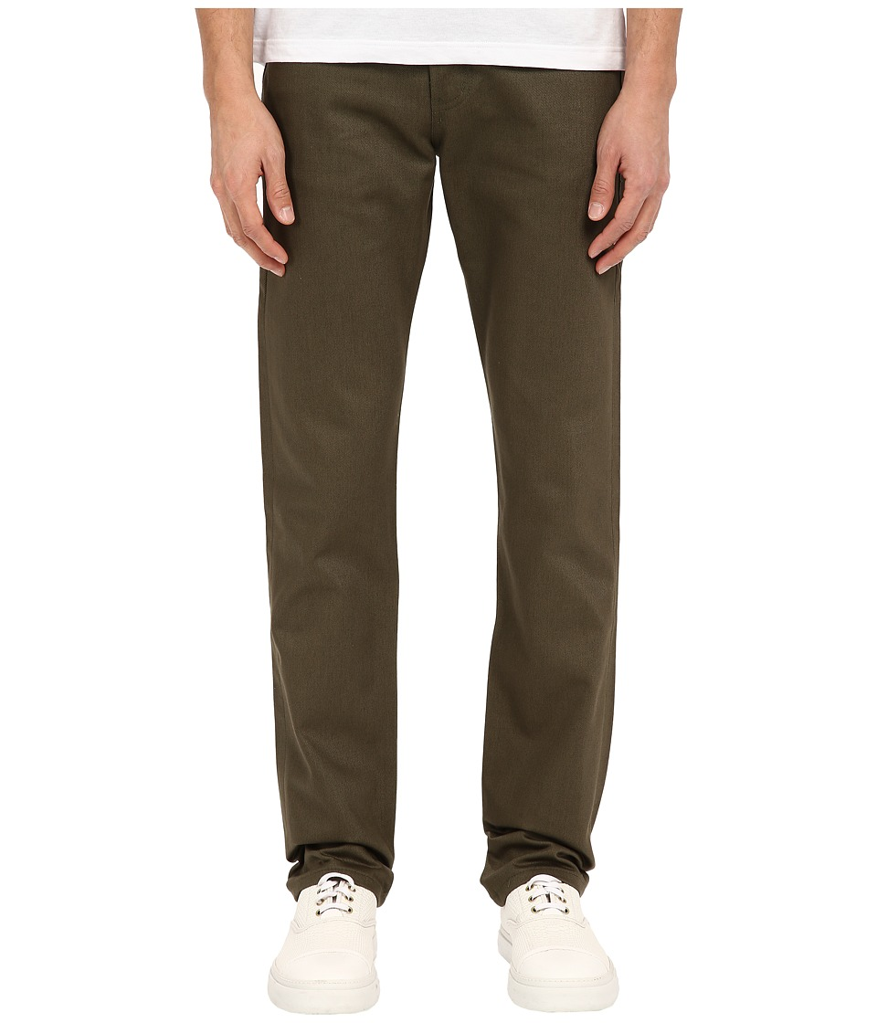 Naked & Famous - Weird Guy Selvedge Chino Pants (Khaki Green) Men's Casual Pants
