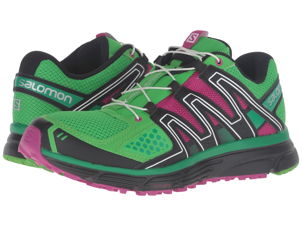 Salomon - X-Mission 3 (Peppermint/Deep Dalhia/Athletic Green X) Women's Shoes