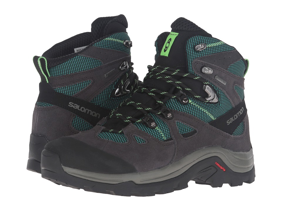 Salomon - Discovery GTX (Asphalt/Veridian Green/Fresh Green) Women's Hiking Boots