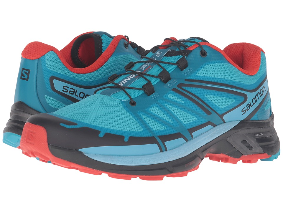 Salomon - Wings Pro 2 (Blue Jay/Fog Blue/Lava Orange) Women's Shoes