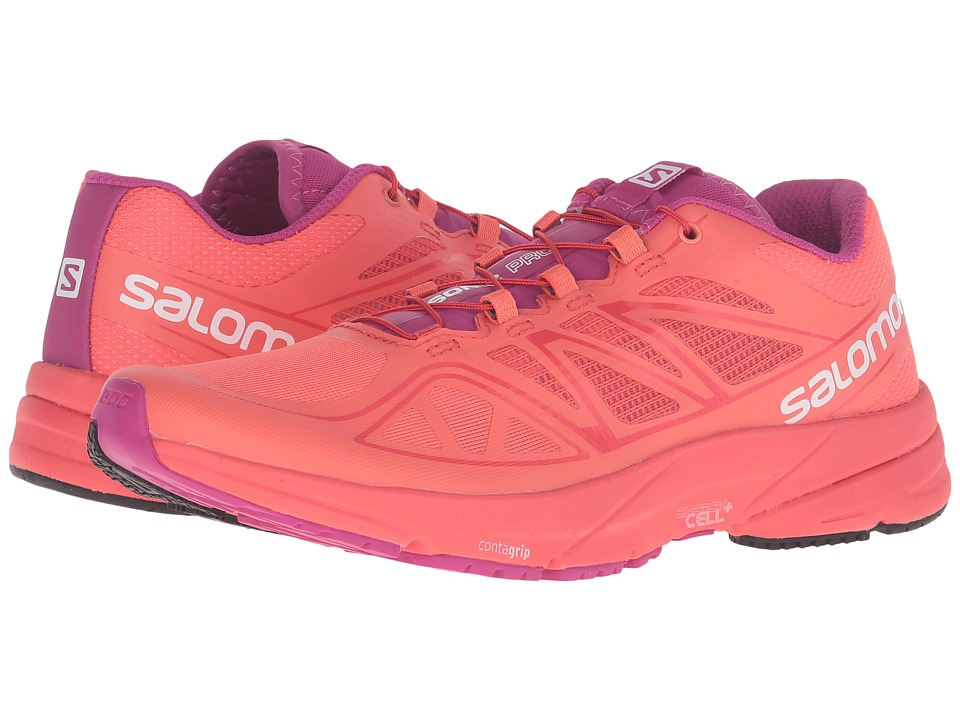 Salomon - Sonic Pro (Coral Punch/Coral Punch/Deep Dalhia) Women's Shoes