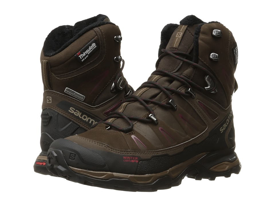 Salomon - X Ultra Winter CS WP (Absolute Brown-X/Brown/Black/Bordeaux) Women's Shoes