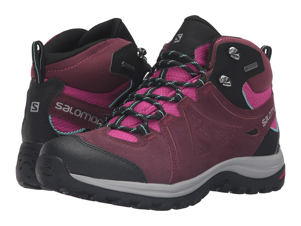 Salomon - Ellipse 2 Mid LTR GTX (Pinot Noir/Deep Dalhia/Bubble Blue) Women's Shoes