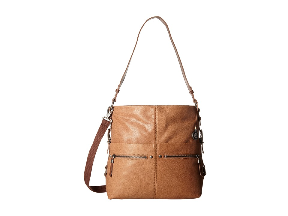 The Sak - Sanibel Bucket (Almond) Satchel Handbags