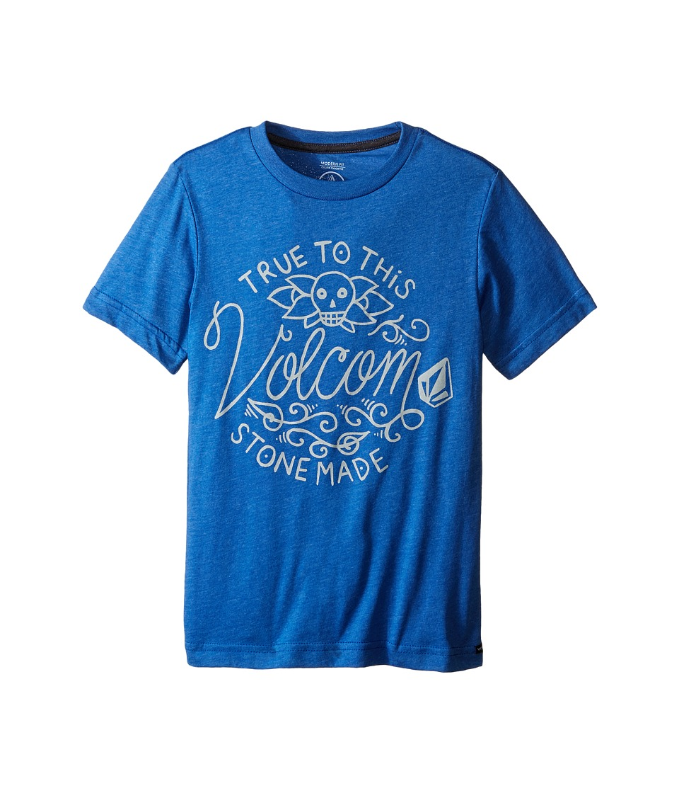 Volcom Kids - Pedal Forward Short Sleeve Tee (Big Kids) (Estate Blue Heather) Boy