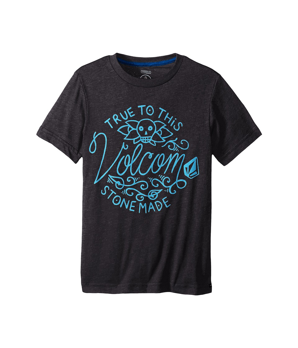 Volcom Kids - Pedal Forward Short Sleeve Tee (Big Kids) (Heather Black) Boy's T Shirt