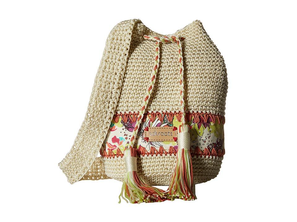 Sakroots - Artist Circle Crochet Drawstring (Citrus Xen Garden) Drawstring Handbags