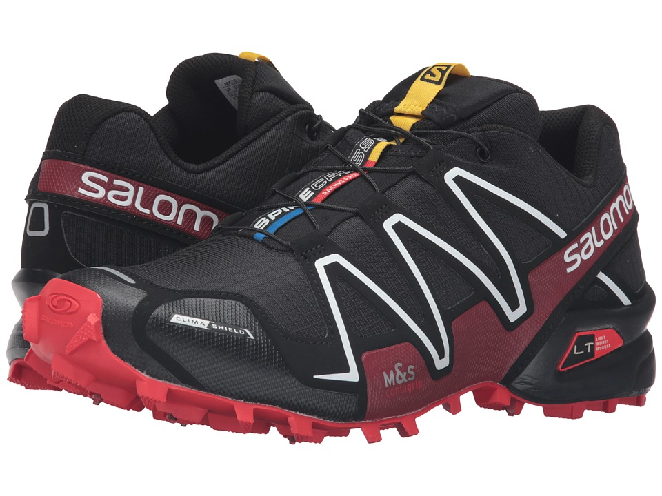 Salomon - Spikecross 3 CS (Black/Radiant Red/White) Running Shoes
