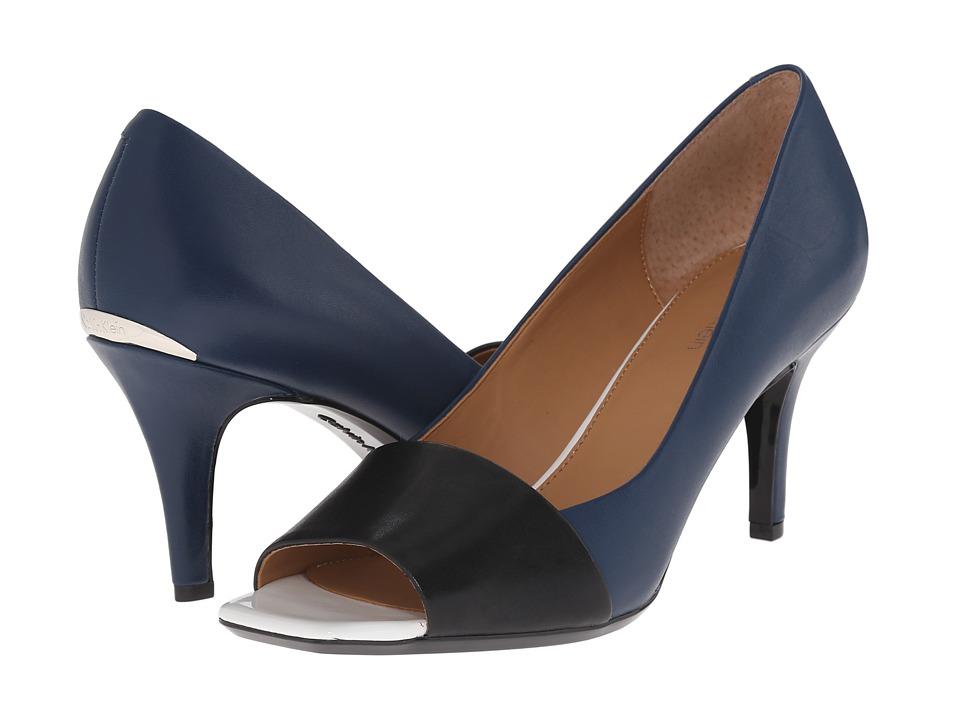 Calvin Klein - Nareen (Black/Marine Leather) High Heels