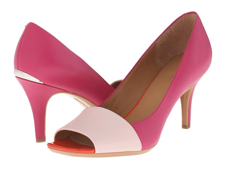Calvin Klein - Nareen (Dancer Pink/Jazzberry Leather) High Heels