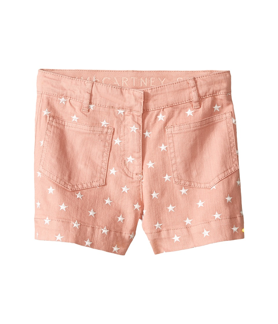 Stella McCartney Kids - Alicia Star Embroidered Denim Shorts (Toddler/Little Kids/Big Kids) (Pink) Girl's Shorts