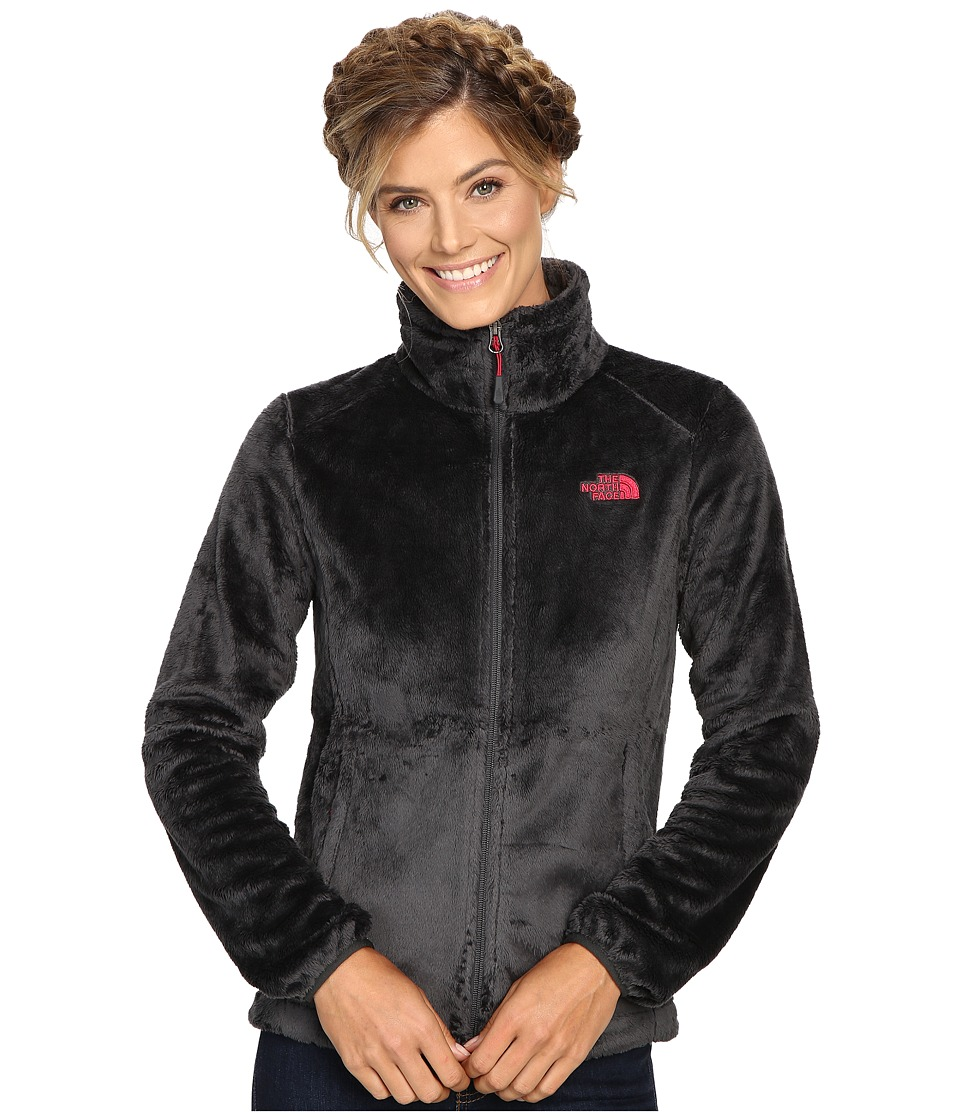 The North Face - Osito 2 Jacket (Asphalt Grey/Cerise Pink) Women's Coat