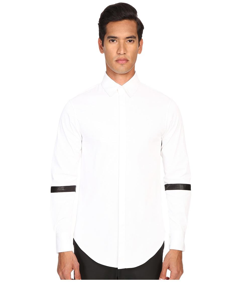 Pyer Moss - Barett Dress Shirt (White) Men's Clothing