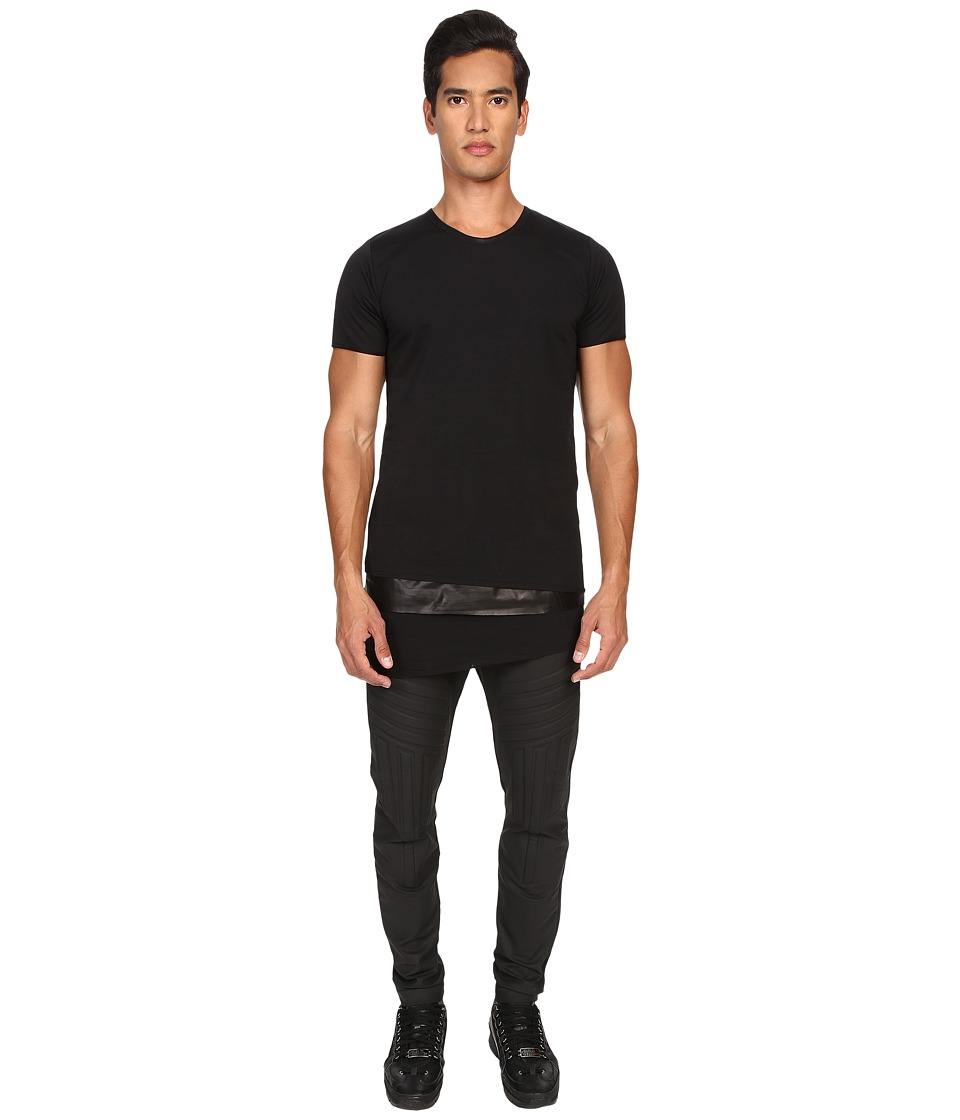 Pyer Moss - Tattered Layered Crew (Black) Men's T Shirt