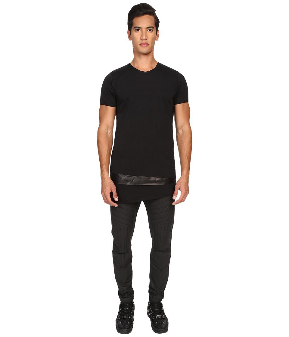 Pyer Moss - Tattered Layered Crew (Black) Men's T Shirt