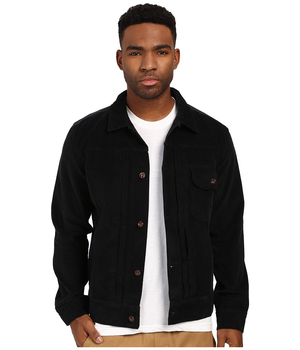 HUF - Type 1 Corduroy Jacket (Black) Men's Coat