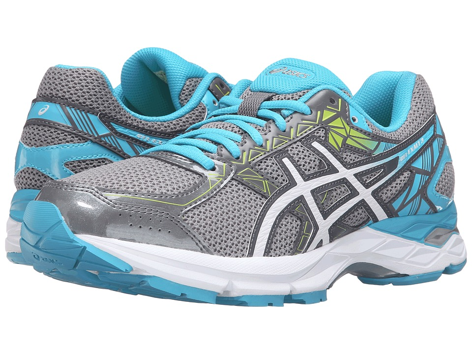 ASICS - Gel-Exalt 3 (Aluminium/White/Aquarium) Women's Running Shoes