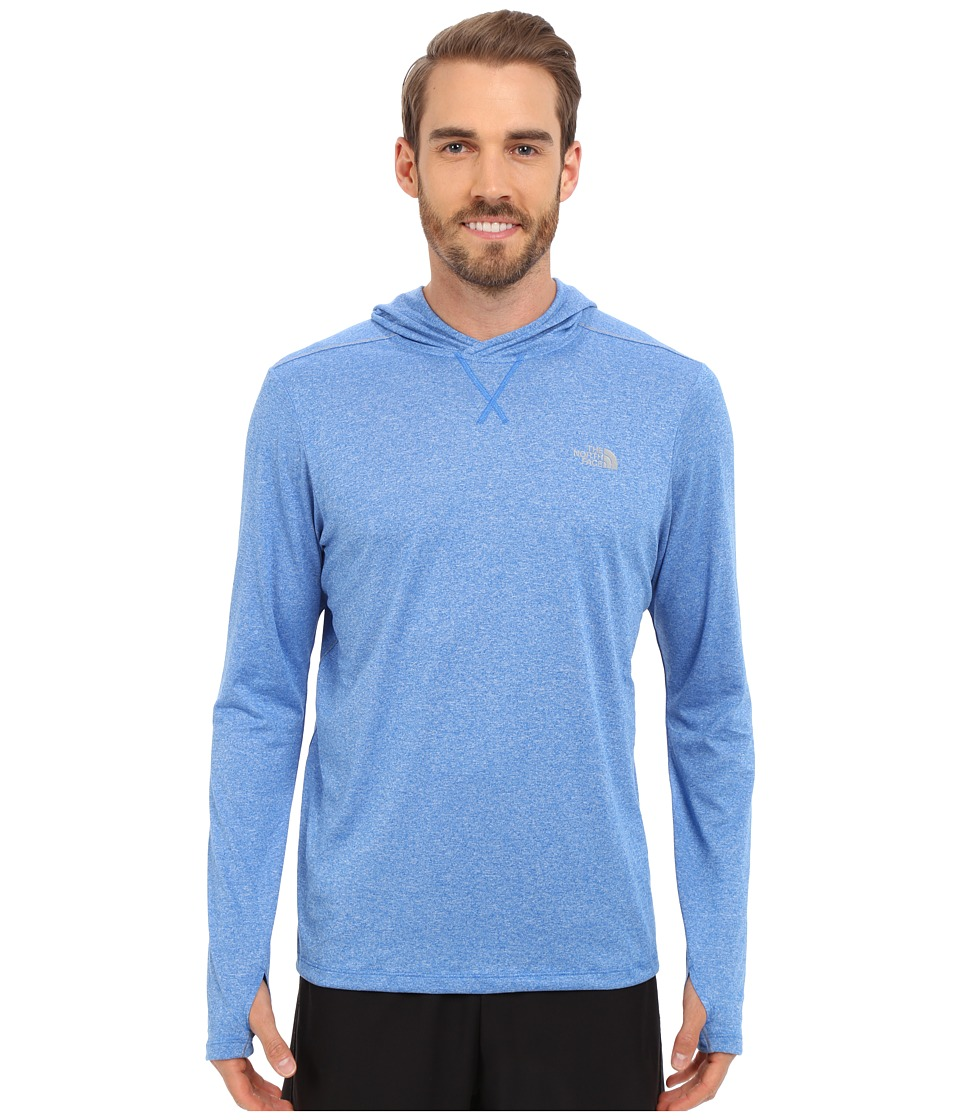 The North Face - Reactor Hoodie (Bomber Blue Heather/Mid Grey) Men's Sweatshirt