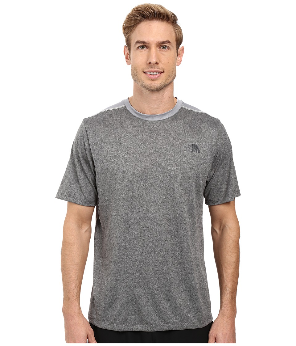The North Face Reactor Short Sleeve Crew (TNF Medium Grey Heather) Men