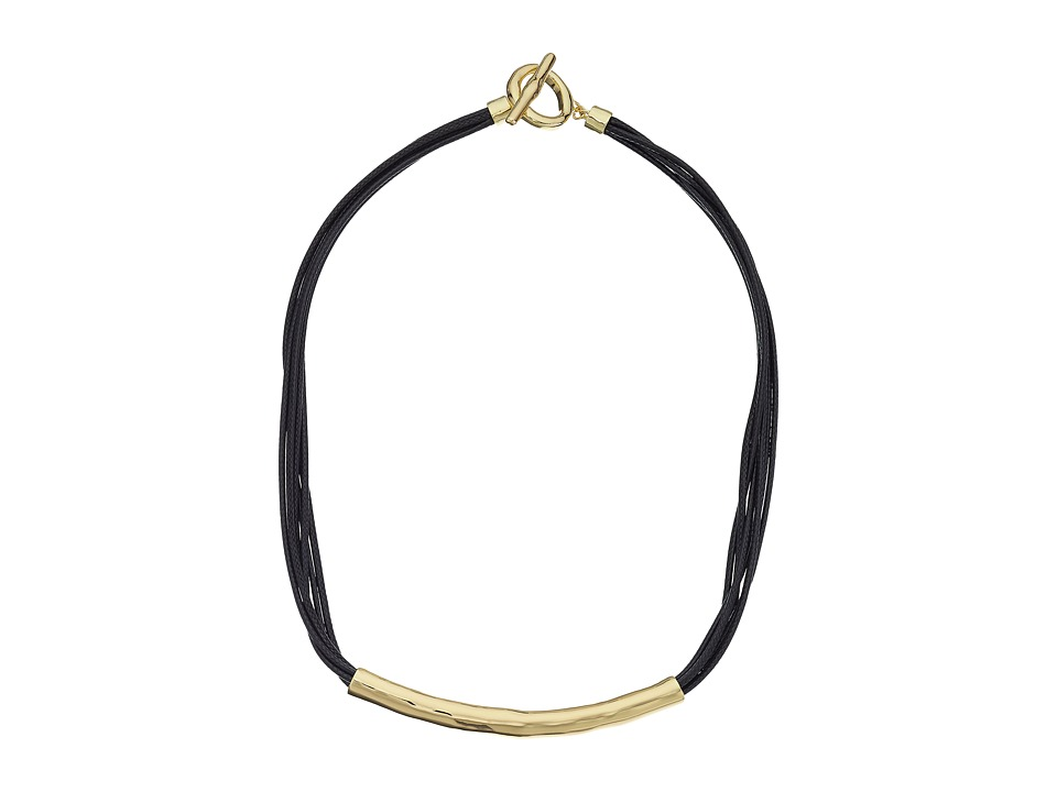 Karen Kane - All or Nothing Organic Cord Necklace (Gold) Necklace