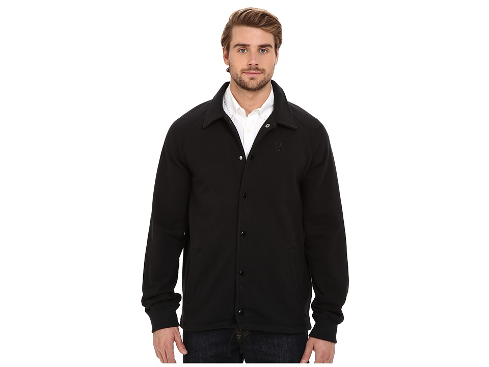 HUF - Fleece Coaches Jacket (Black) Men's Coat