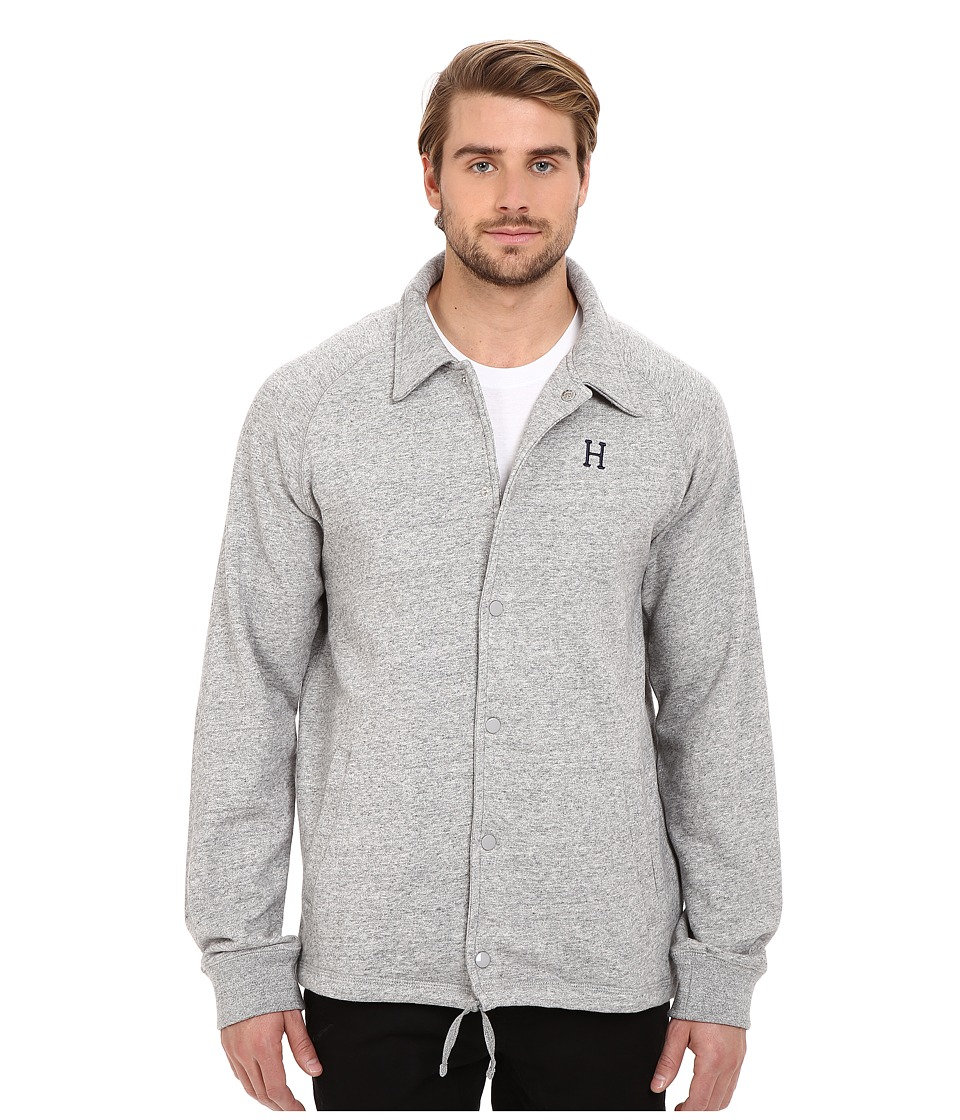 HUF - Fleece Coaches Jacket (Grey Heather) Men's Coat