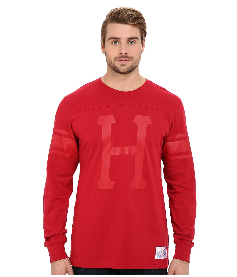 HUF - Home Field Long Sleeve Shirt (Red) Men's Long Sleeve Pullover