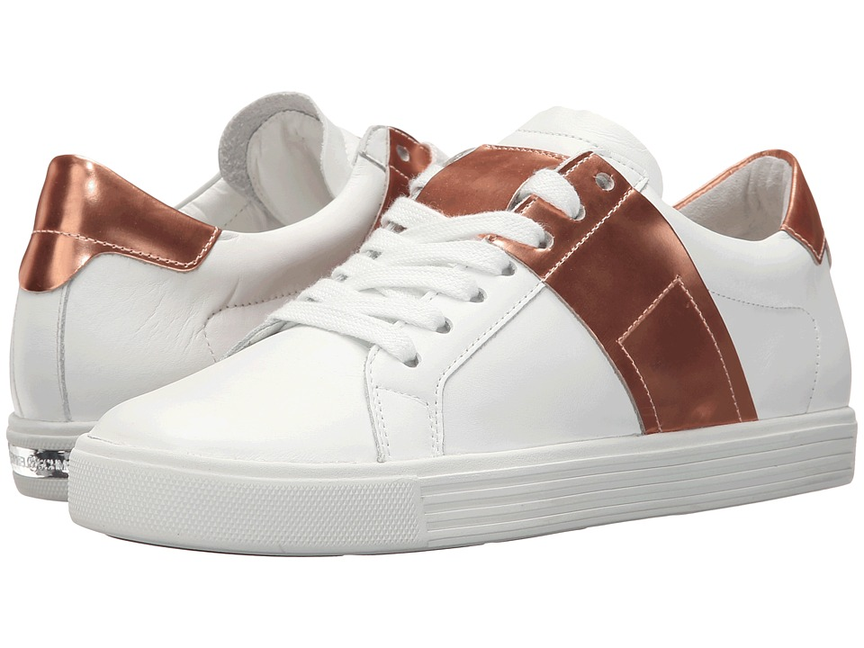 Kennel & Schmenger - Town Metallic Contrast (White Leather/Rose Gold Specchio) Women's Shoes