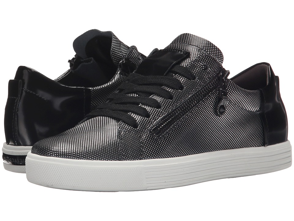 Kennel & Schmenger - Town Double Zip Metallic Mesh (Gunmetal/Black Studded Calf) Women's Shoes