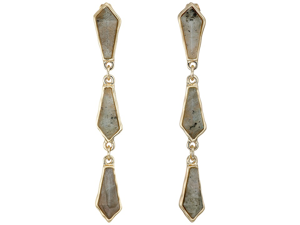Karen Kane - River Rock Station Drop Earrings (Black) Earring