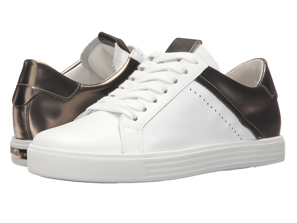 Kennel & Schmenger - Town Metallic Contrast (White Leather/Silver Specchio) Women's Shoes