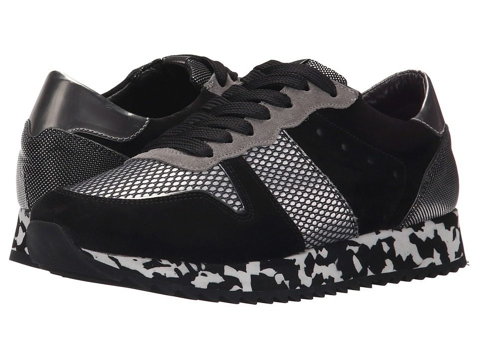 Kennel & Schmenger - Drive Pebble Sole (Black Suede/Silver) Women's Shoes