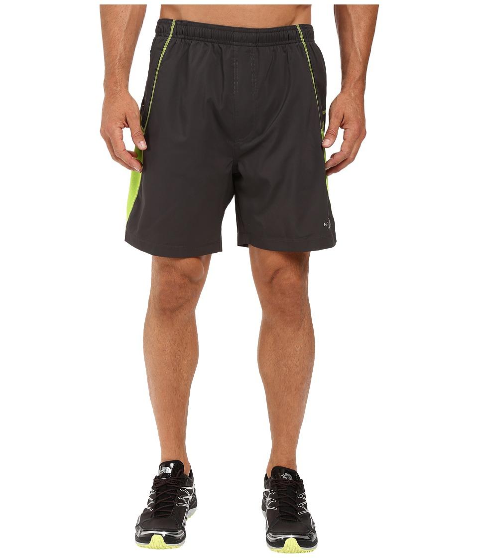 The North Face - Voltage Pro Shorts (Asphalt Grey/Macaw Green Heather) Men's Shorts