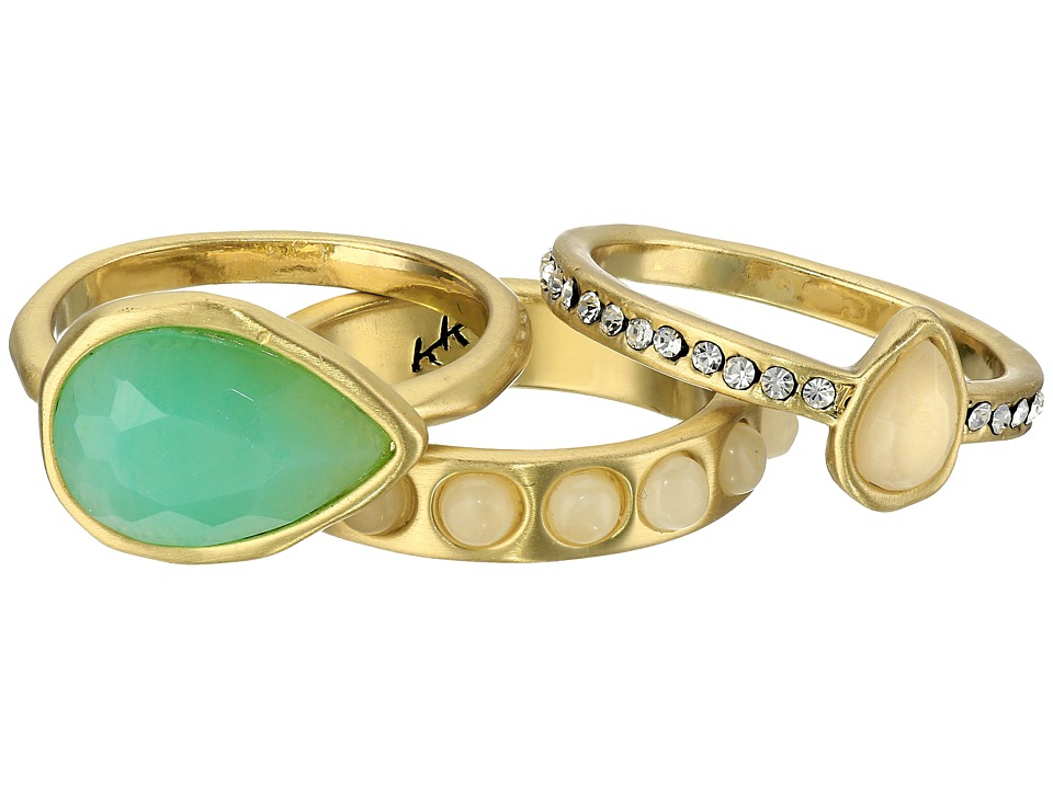 Karen Kane - Resin Sky and Sea Ring Set (Green) Ring