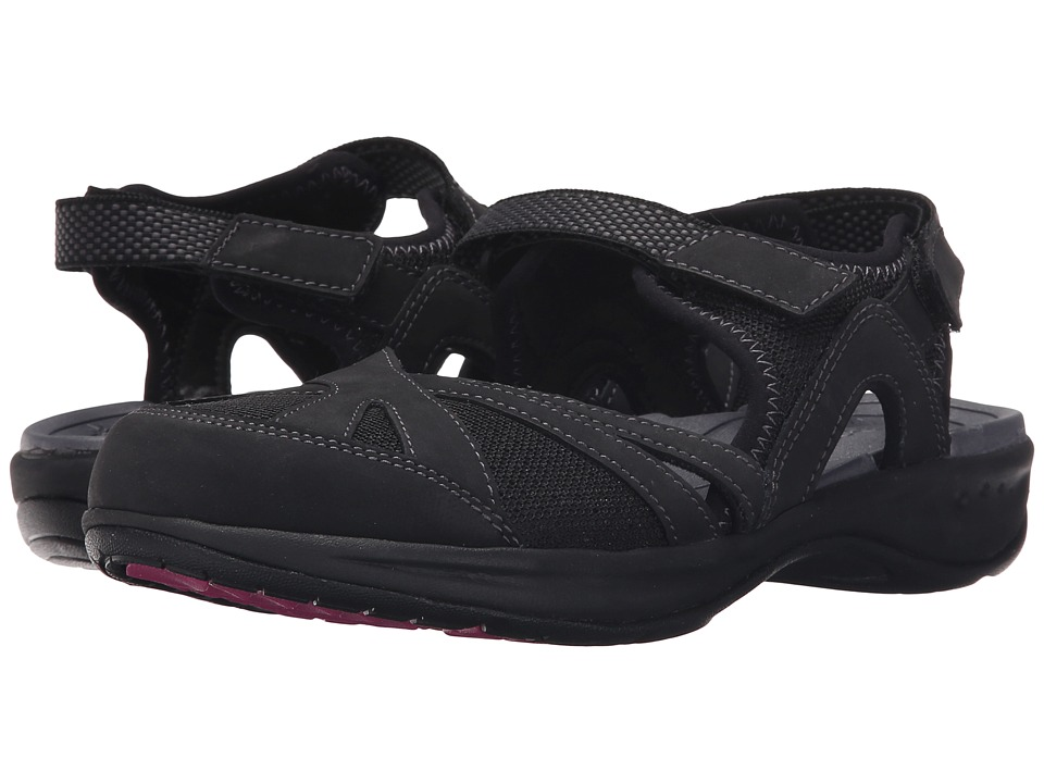 Easy Spirit Efast (Black/Black Leather) Women