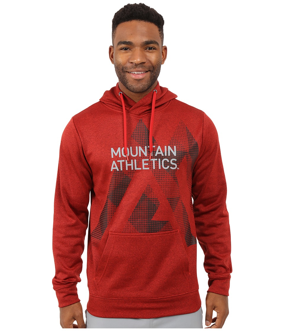 The North Face - MA Graphic Surgent Hoodie (Pompeian Red Heather/Asphalt Grey) Men's Sweatshirt