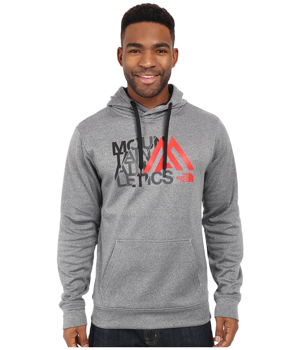 The North Face - MA Graphic Surgent Hoodie (TNF Medium Grey Heather/TNF Black) Men's Sweatshirt