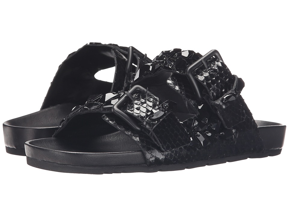 Kennel & Schmenger - Love Double Buckle Sandal (Black) Women's Sandals