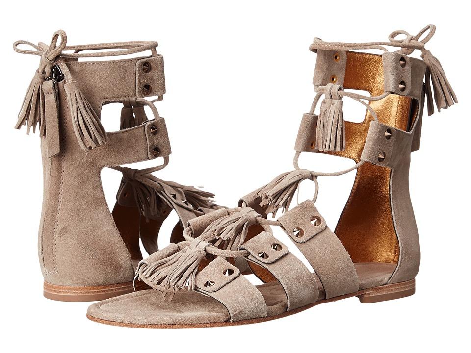 Kennel & Schmenger - Elle Lace Front Sandal (Sand Suede) Women's Sandals
