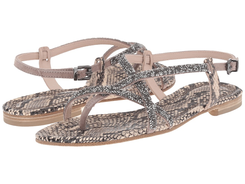 Kennel & Schmenger Elle Snake Print Sandal (Powder/Rose Gold) Women