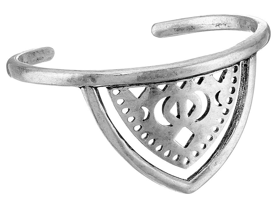 Lucky Brand - Floral Openwork Cuff Bracelet (Silver) Bracelet